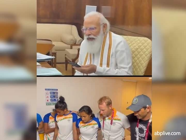 WATCH | India Women's Hockey Team Get Emotional During Telephonic Conversation With PM Modi