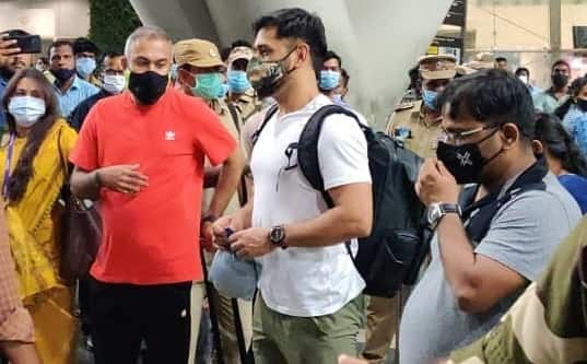IPL 2021: MS Dhoni Lands In Chennai Before Heading To UAE For IPL, Gets Rousing Welcome - Watch