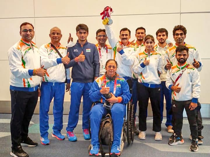 In Pics: India's Triumphant Paralympic Athletes Return Home To Rousing Reception