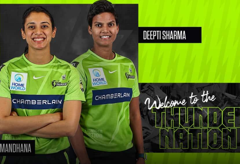 WBBL: Smriti Mandhana & Deepti Sharma To Play For Sydney Thunders In Women's Big Bash League