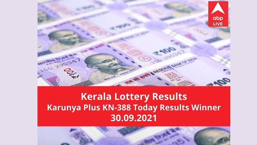 LIVE Kerala Lottery Result Today: Karunya Plus KN-388 Results Lottery Winners Full List Prize D