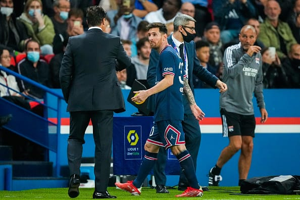 Lionel Messi Was Not Happy After PSG Coach Subbed Him In 75th Minute, PSG Vs Lyon In PICS
