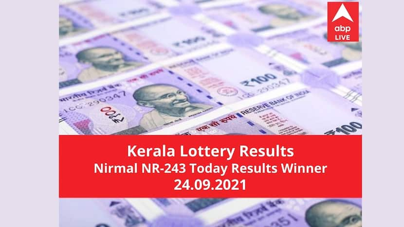 Live Kerala Lottery Today Result 24.9.2021 Out Nirmal NR 243 Lottery Results Winners
