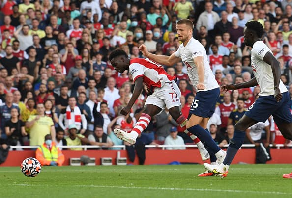 Premier League: Gunners Stun Spurs By 3-1 Home Victory In London Derby, Saka Stars For Arsenal