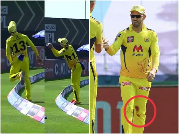 Faf du Plessis Takes Brilliant Catch With A 'Bleeding Knee' To Dismiss Eoin Morgan - Watch