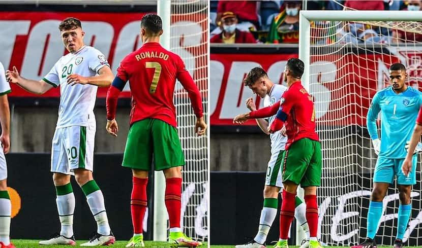 Shocking! Cristiano Ronaldo Slaps Irish Player Before Missing Penalty - Watch Video