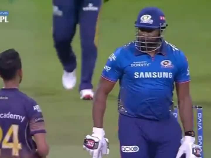IPL 2021: Kieron Pollard Involved In A Heated Clash With Prasidh Krishna, Video Goes Viral