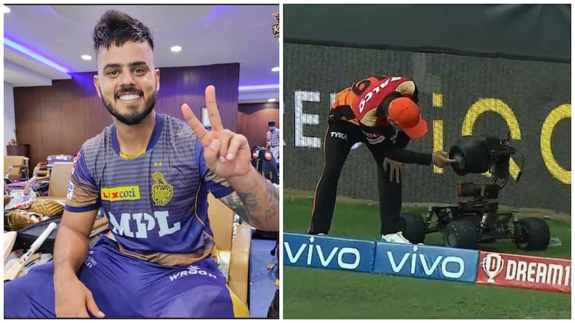 IPL 2021: Nitish Rana's Pull Shot Breaks Camera's Lens Against SRH - Watch Video