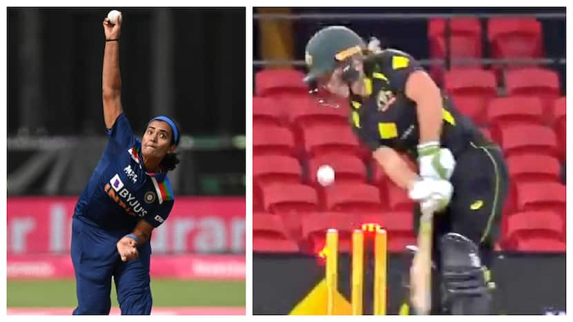 Twitter In Frenzy Over Shikha Pandey's 'Ball Of Century' Against Australia - Watch Video