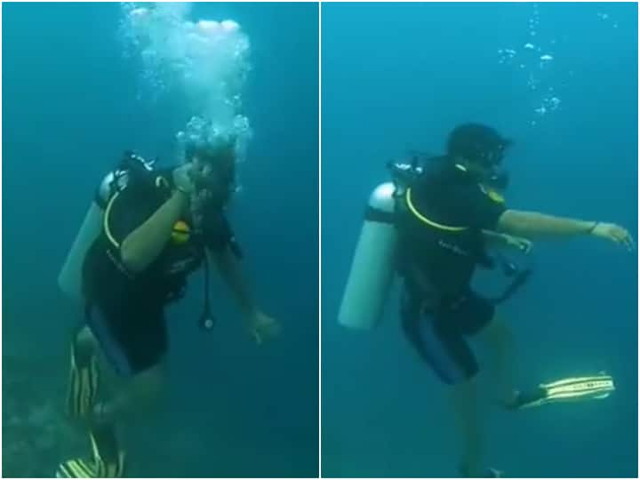 Neeraj Chopra Mimics Throwing Javelin Under Water While On A Scuba Dive In Maldives - Watch
