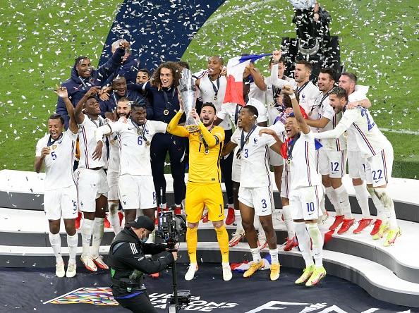 Pogba, Mbappe शो टिकटॉक स्टार खाबी लंगड़ा कुछ प्यार यूईएफए राष्ट्र लीग फ्रांस के लिए जीत के बाद -घड़ी